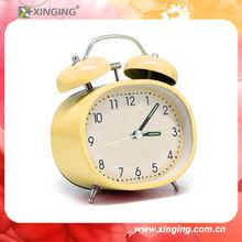 Fashion metal yellow kids alarm clock