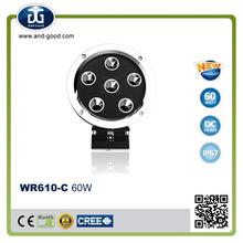 New Chrome Round DC 10-32V 60W led headlight motorcycle, spot led lights,led truck driving lights for 4X4