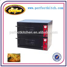 Doppio strato forno per pizze elettrico/commerciale pizza forno a macchina