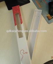 custom hair packaging/gift packaging/hair extension packaging with window