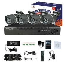 KAVASS 4CH DVR HDMI 800TVL mobile car security system with Cable Power Adaptor(CLG-4C800E)