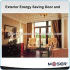 Exterior energy saving door and window glass