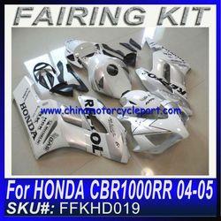 Motorcycle fairing kit body work for HONDA CBR1000RR 2004 2005 WHITE REPSOL FAIRING KIT
