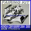 SUPER BIKES PARTS FAIRING KIT FOR HONDA CBR1000RR 2004 2005 WHITE&BLACK FFKHD019