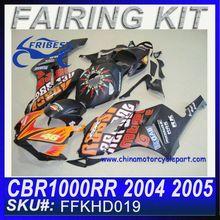 Fairing Motorcycle For HONDA CBR1000RR 2004-2005 MATT BLACK ROSSI FFKHD019