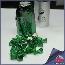 emerald green zircon rough stone