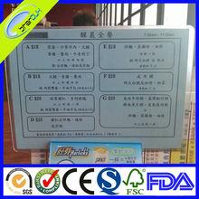 professional food menu flyer printing manufacturer