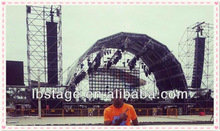 widely used exhibition concert show stage aluminium roof truss frame spigot truss