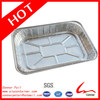 "7L American Style Disposable Large Silver Hard Rectangular Deep Aluminum Foil Food Storage Container 2 1/2"" Deep 50/Case"