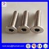 free samples hex socket flat head machine screws with reasonable price!