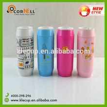 custom print stainless steel cola can shape vacuum water bottle/coke bottle