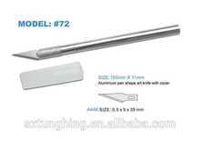 Aluminium Pen Shape Art Knife with Cover
