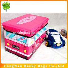 Kids Car Folding Storage Stool / Car-shapeStorage Chair / Storage Box