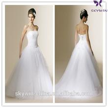 DS14763 Bride lace wedding dress detachable skirt patterns wedding dress