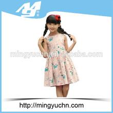 Patterns of summer design poplin new born baby dress