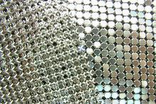 silver metal mesh curtain