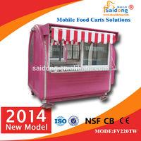street mobile cart for sell ice-cream/fruit juice/hot dog/hamburger(manufacturer)