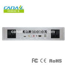 hot selling hotel multi functional panel HD8630-B desktop media hub