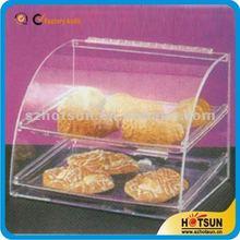 customized clear acrylic cupcake display cabinet / acrylic cake display / acrylic bakery display with tray