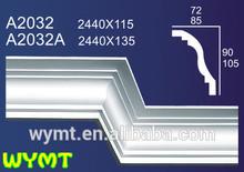 high whiteness gypsum window treatment cornice A2032