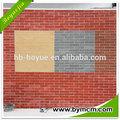 colore rosso finto muro di mattoni pannelli