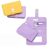 Fashion Lady Manicure Set in yellow and purple case