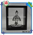 sgy21 mujeres de yoga y meditación astilla estatuilla con marco de madera