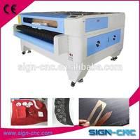 cheap machines to make money laser cut felt table runner /auto feeding machine