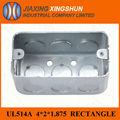 venta caliente galvnized 2x4 de acero conducto eléctrico interruptor de rectángulo caja de metal