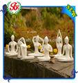 Figurita de rana del jardín para Yoga de Seis Estilos de color Blanco ,decoración