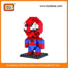 LOZ plastic toy spider man