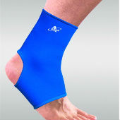 Blue simple quality neoprene ankle brace and support