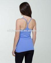 Cross back design sport singlet OEM or ODM services yoga wrap tops