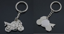 wholesale silver metal motorcycle keychain cheap keychain for promotion gifts