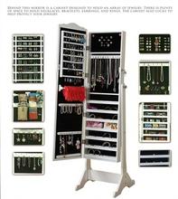 hallway jewelry cabinet with mirror
