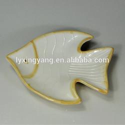 ceramic plates fish shaped,hanging ceramic fish,shape plate