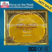 Golden facial mask beauty