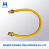 Yellow Stainless Flexible Corrugated gas hose connector