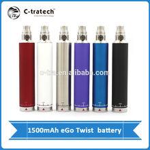 1500mah ego c twist battery variable working voltage and variable colors 1500mah ego VV battery series