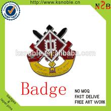 Souvenir custom arts and crafts metal badge pin