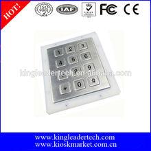illuminated stainless steel numeric keypad with 12 flush keys
