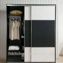 Decorative wall wood shelves sliding folding doors portable wardrobe with handle
