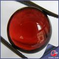 cabochão sintético vermelho garnet redonda plana cut loose gemstone