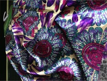 100%Polyester fastness sunflower pattern digital printing satin fabirc