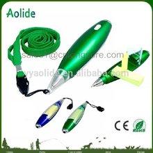 2014 new item stylish note paper flashlight ballpoint pen