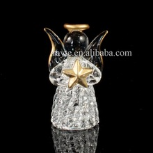 Glided Hand Blown Glass Praying Angel with Golden Star