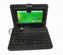 """7"""" Inch Tablet PC Android Cover Case PU Leather Keyboard With micro port"""