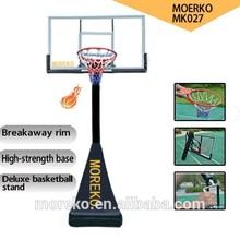 "Deluxe Home Adjustable Basketball Stand/Hoop MK027 with 54"" fiberglass basketball backboard,breakaway ring/rim"