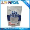 Match grade BB PELLETS stand up packaging pouch with zipper abd clear window