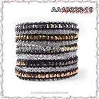Bio Elements multi layer European Style Leather Wrap Bracelet
